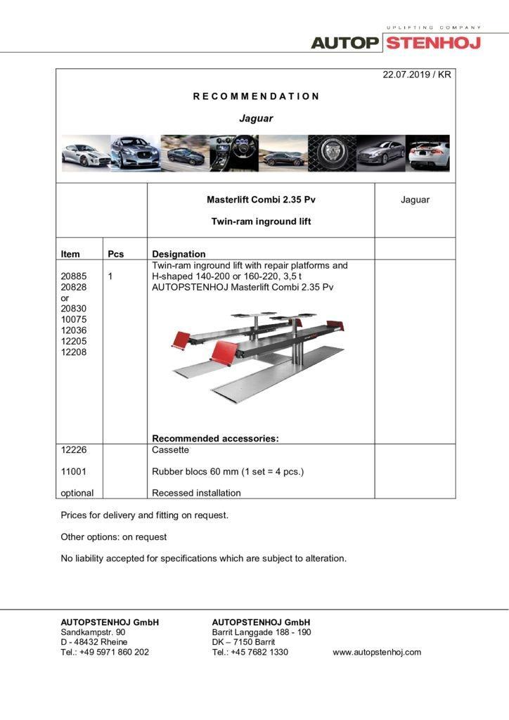 Update Masterlift Combi 235 F 420 Pv EN  1 pdf - Jaguar