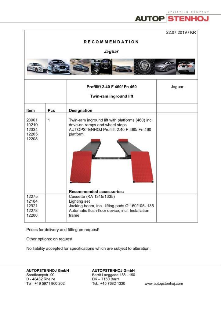 Update Profilift 240 F 460 EN  pdf - Jaguar