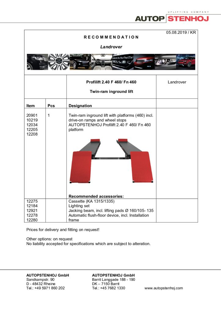 Update Profilift 240 F 460 EN  1 pdf - Landrover