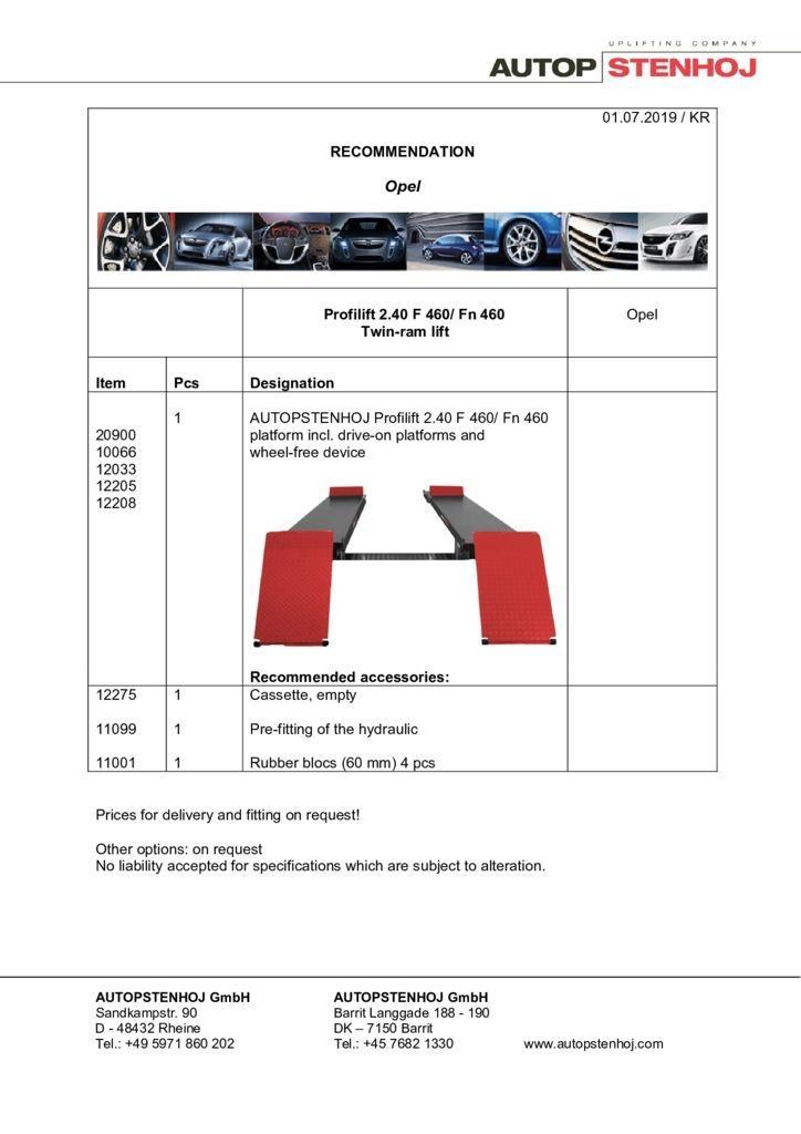 Update Profilift 240 Fn 460 EN Opel pdf - Opel