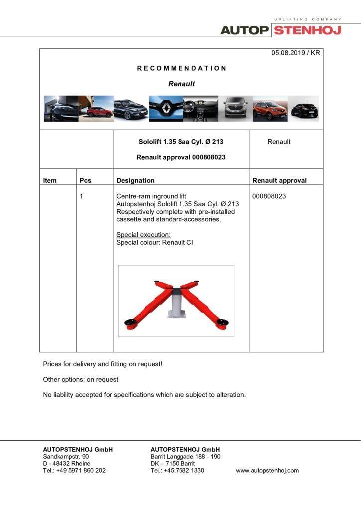 Update Sololift135 Saa Cyl. 213 000808023 EN  pdf - Renault