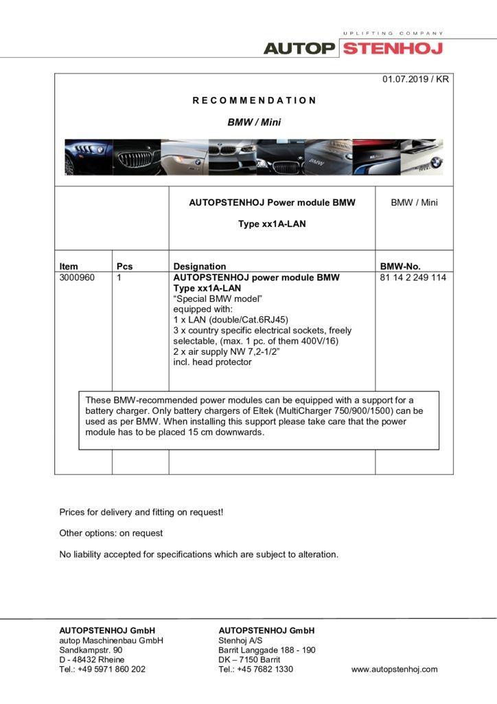 Update Firmenname Energieampel Typ xx1A LAN EN  pdf - BMW / Mini