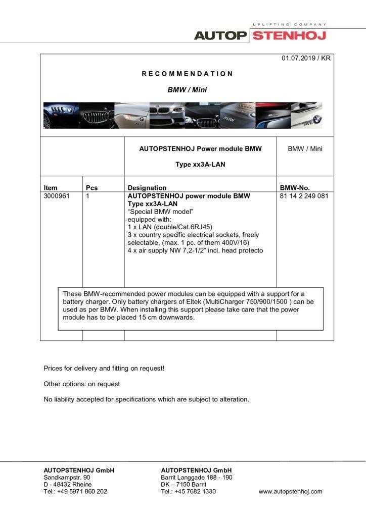 Update Firmenname Energieampel Typ xx3A LAN EN  1 pdf - BMW / Mini