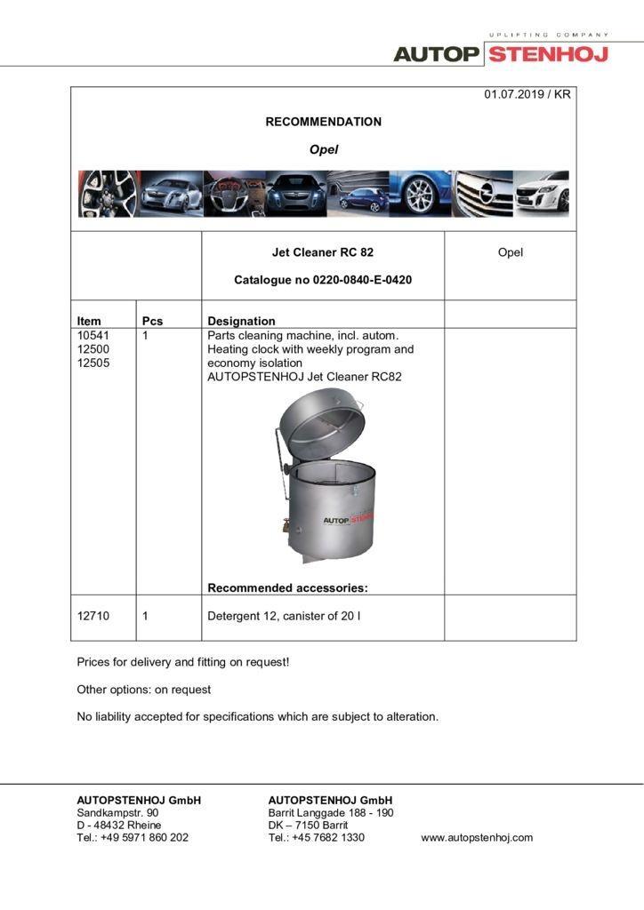 Update Firmenname Jet RC 82 EN  pdf - Opel