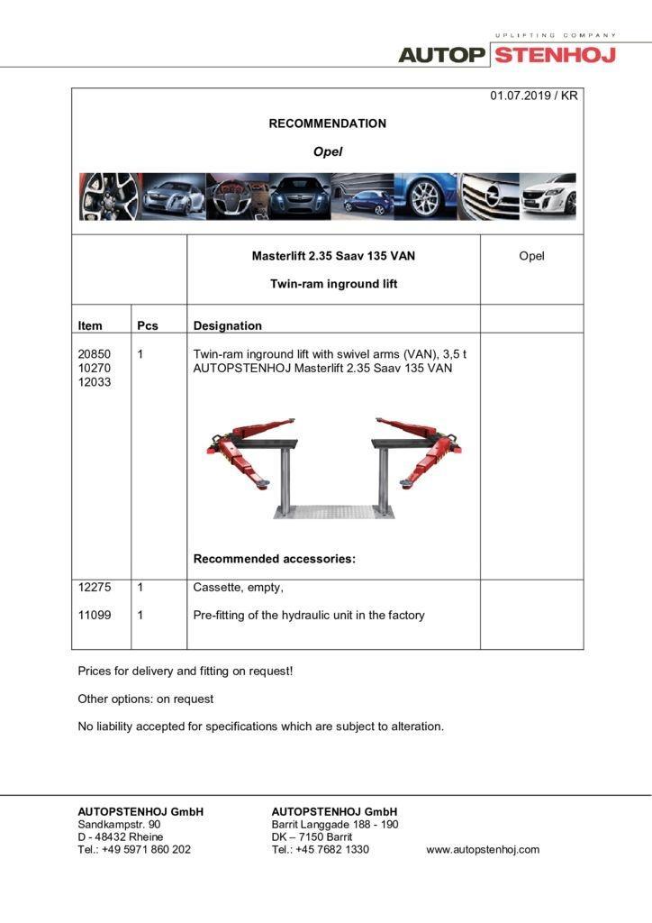 Update Firmenname Masterlift 235 Saav 135 VAN EN  pdf - Opel