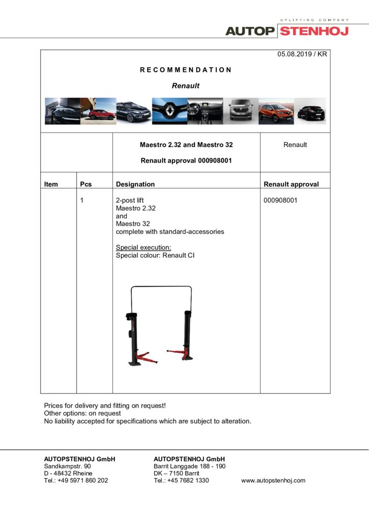Update Maestro 232 and 32 000908001 EN  1 pdf - Renault