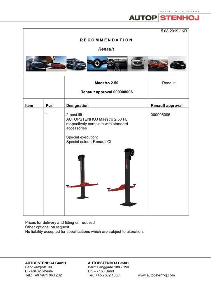 Update Maestro 250 000908006 EN  pdf - Renault