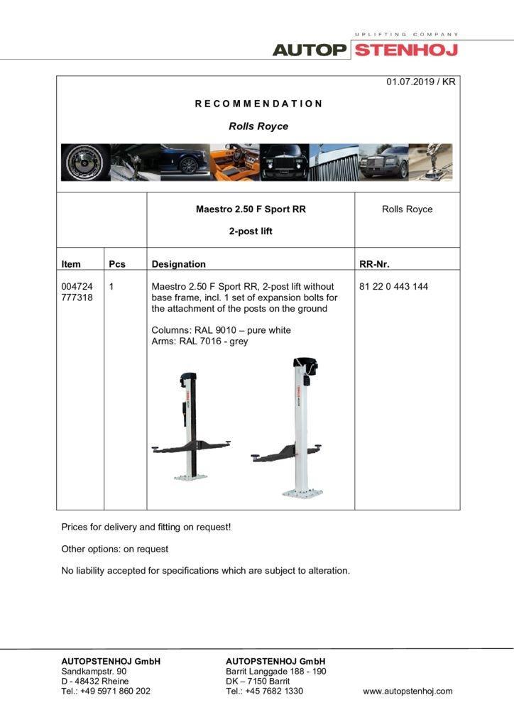 Update Maestro 250 F Sport RR EN  052018 2 pdf - Rolls-Royce