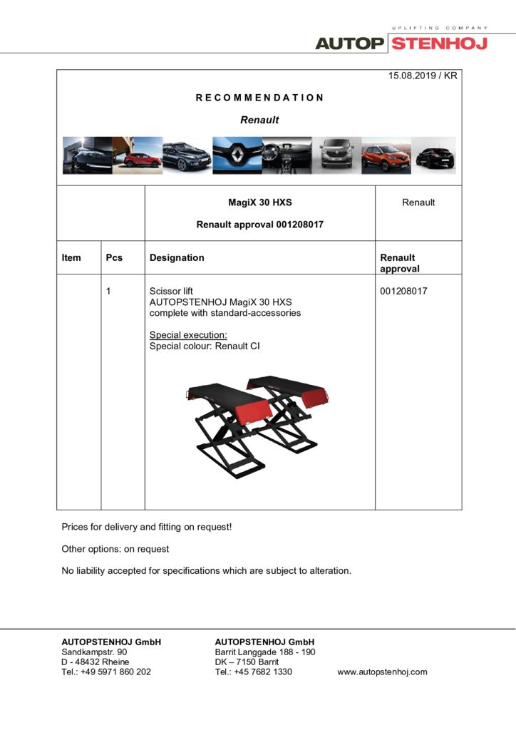 Update MagiX 30 HXS 001208017 EN  pdf - Renault