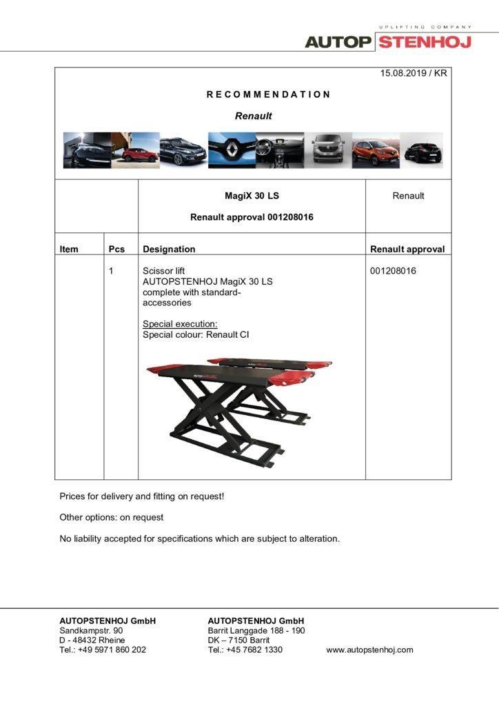 Update MagiX 30 LS 001208016 EN  pdf - Renault