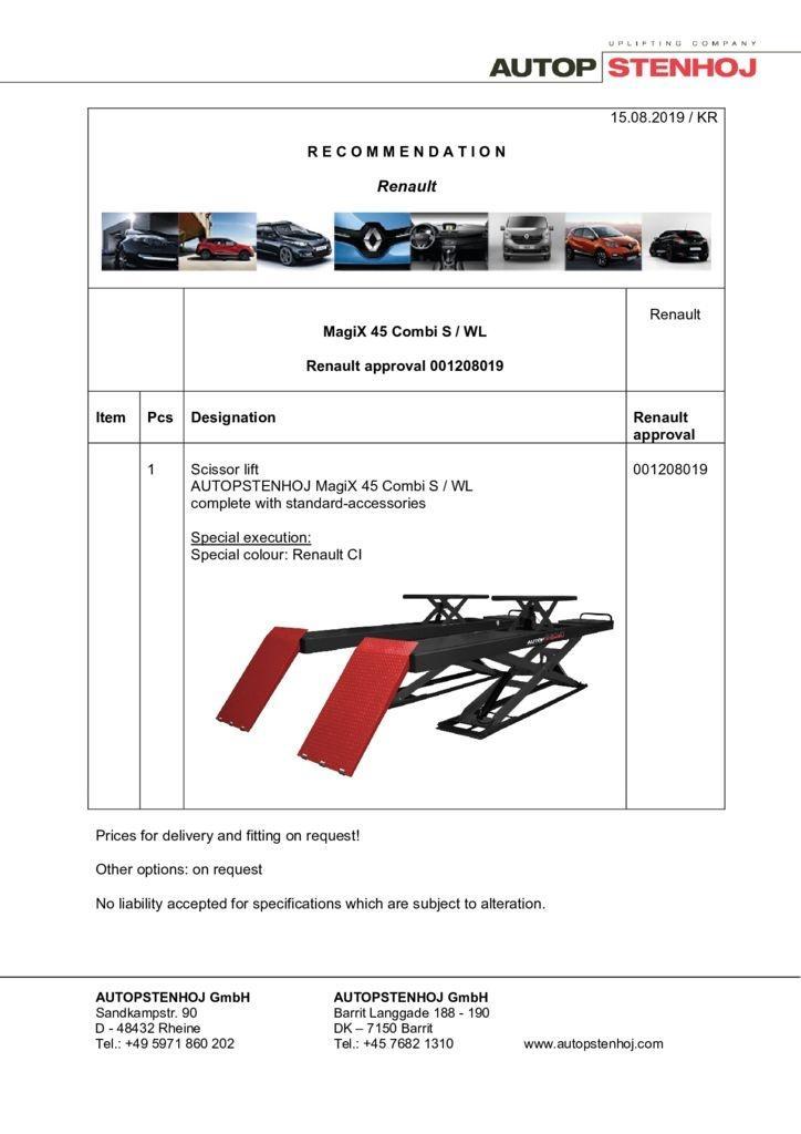 Update MagiX 45 Combi S WL 001208019 EN  pdf - Renault
