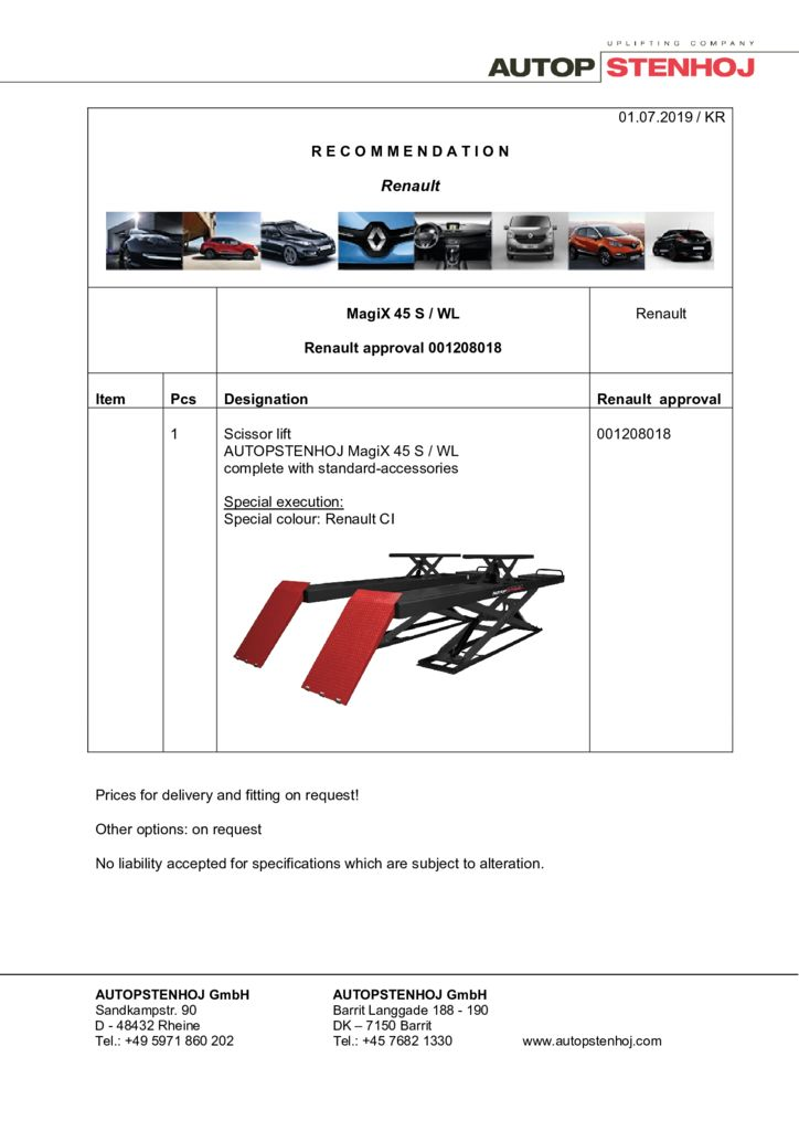 Update MagiX 45 S WL 001208018 EN  pdf - Renault