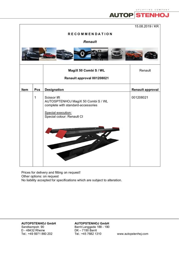 Update MagiX 50 Combi S WL 001208021 EN  pdf - Renault