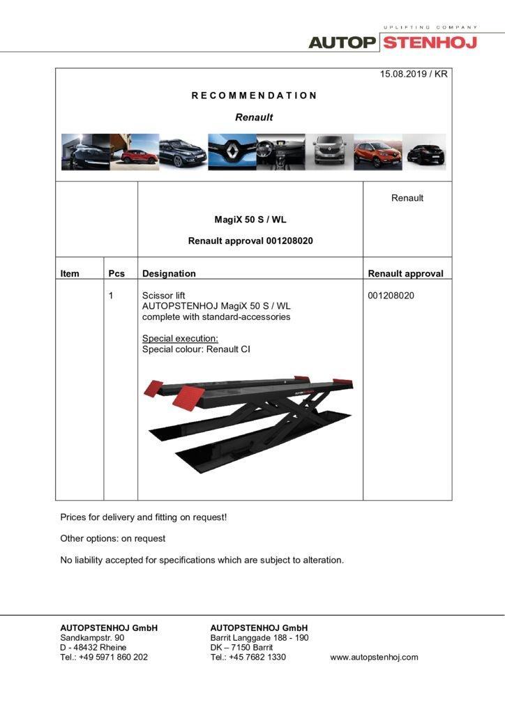 Update MagiX 50 S WL 001208020 EN  pdf - Renault
