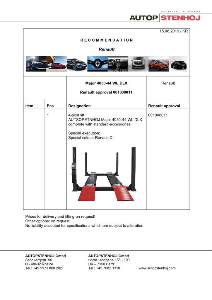 Update Major 4030 44 WL DLX  001008011 EN  pdf - Renault