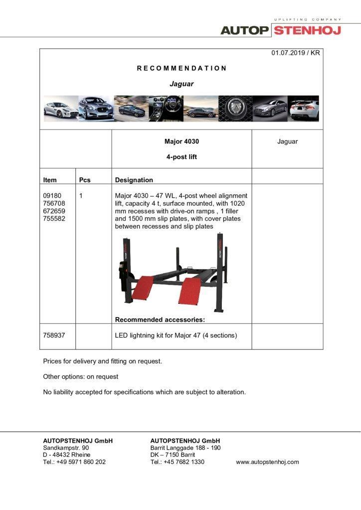 Update Major 4030 EN  pdf - Jaguar