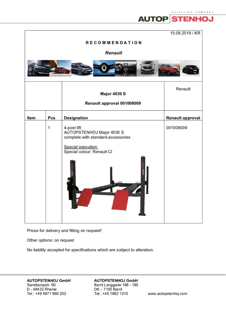 Update Major 4030 S 001008009 EN  pdf - Renault