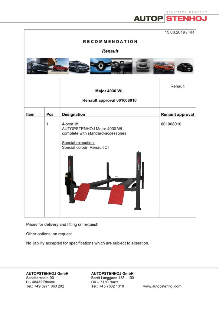 Update Major 4030 WL 001008010 EN  pdf - Renault