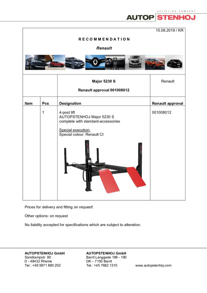 Update Major 5230 S 001008012 EN  pdf - Renault