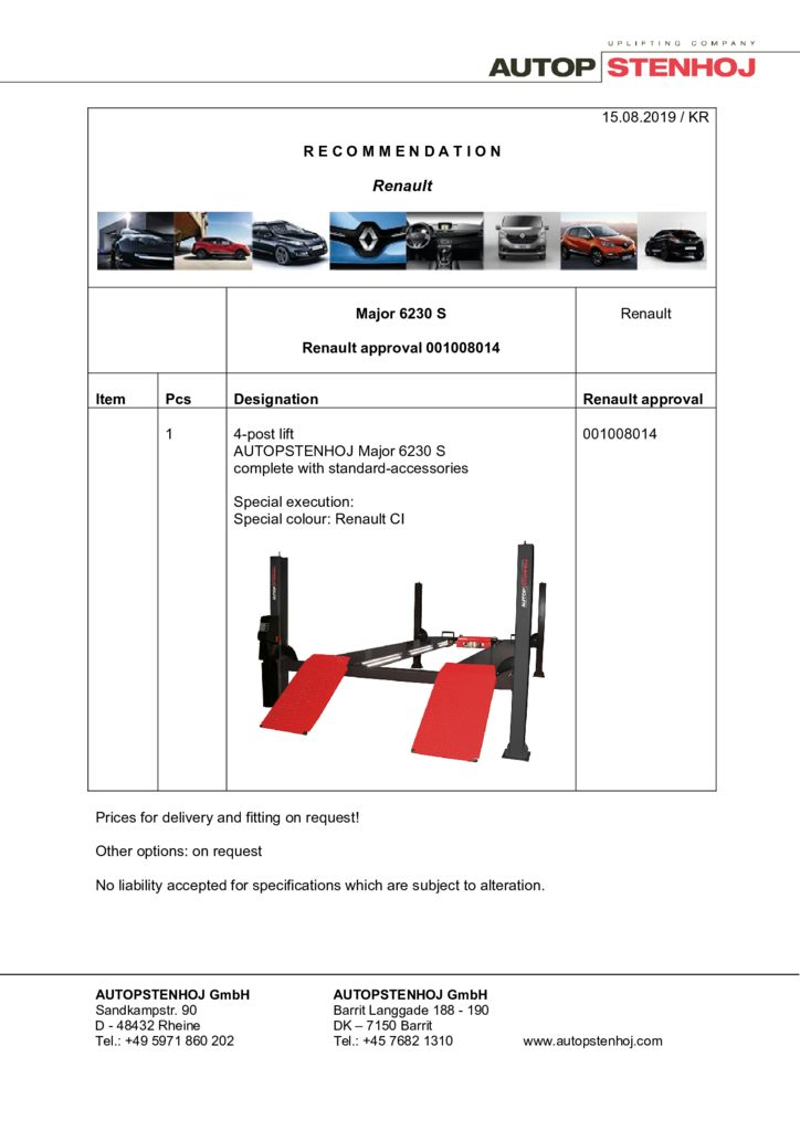 Update Major 6230 S 001008014 EN  pdf - Renault