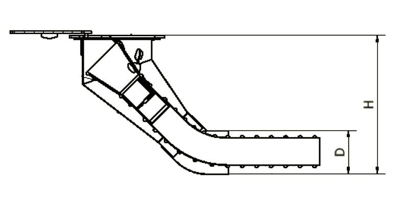Podpodłogowy system odciągu spalin chowanym w podłodze oddciagpodpodlogowy elwicoserwis Widok - Podpodłogowe wyciągi spalin