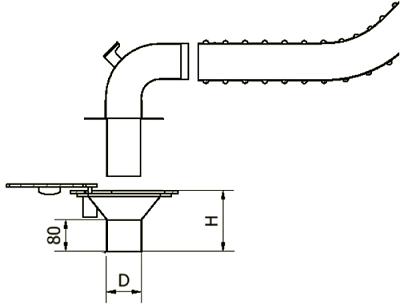 Podpodłogowy system odciągu spalin przyłączanym do wyjścia w podłodze oddciagpodpodlogowy elwicoserwis widok - Podpodłogowe wyciągi spalin