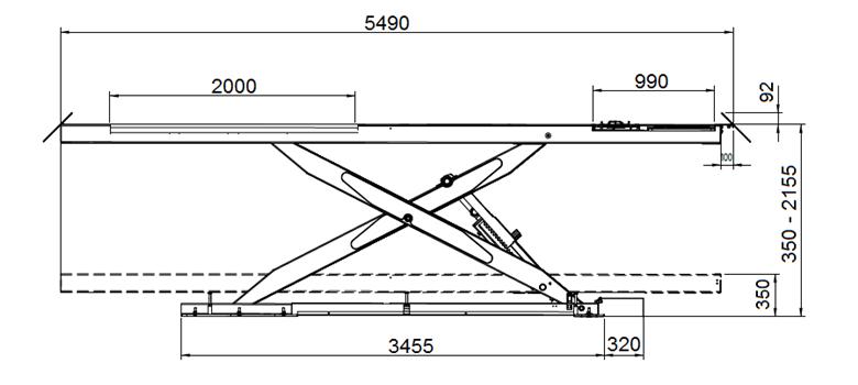 S500A S600A 1 - Podnośnik nożycowy diagnostyczny S500A