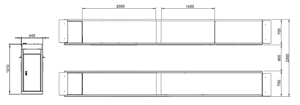 Wymiar S500 S600 wersja płaska 2 1000 - Podnośnik nożycowy S500F z najazdem płaskim