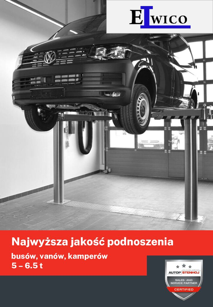 Podnosniki do busów vanów kamperów folder Elwico Serwis pdf - Podnośnik samochodowy BIGLIFT 2.65 Saaa 265