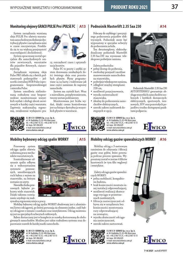 Produkt roku 2021 AUTO EXPERT pdf - Konkurs PRODUKT ROKU AUTO EXPERT 2021! Produkty ELWICO wśród nominowanych!